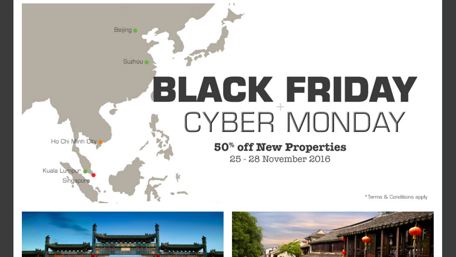 Oakwood Asia Black Friday Cyber Monday promotion