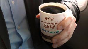 Westjet to serve McDonald's coffee in-flight