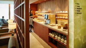 Cathay Heathrow first class lounge pantry