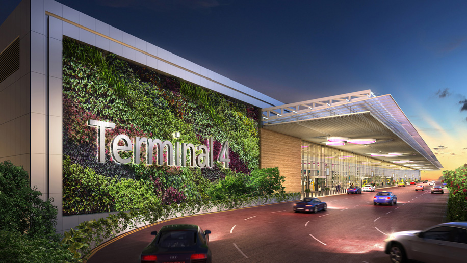 Changi Airport T4 building rendering - Credit: Changi Airport Group