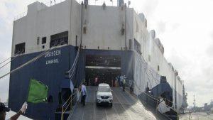 MV Dresden at Cochin Port