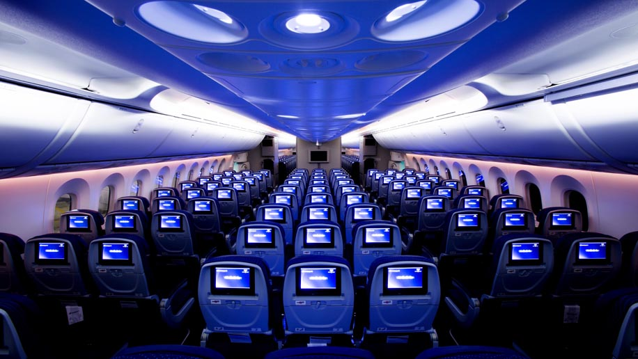 Aeromexico B787-8 Dreamliner cabin
