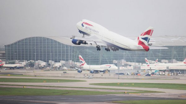 British Airways B747 at Heathrow airport