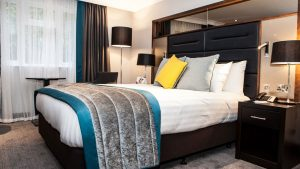 Deluxe bedroom at the Crowne Plaza Felbridge