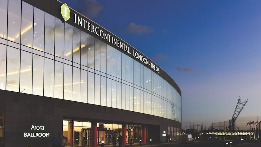 Intercontinental london the o2 the arora ballroom for Hotels 02 london