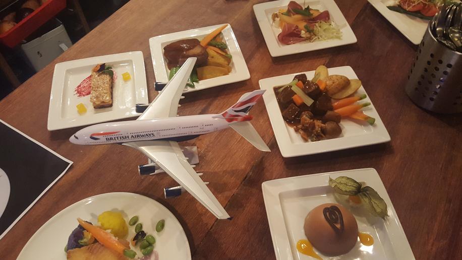 British Airways' new 80th anniversary London-Hong Kong menu