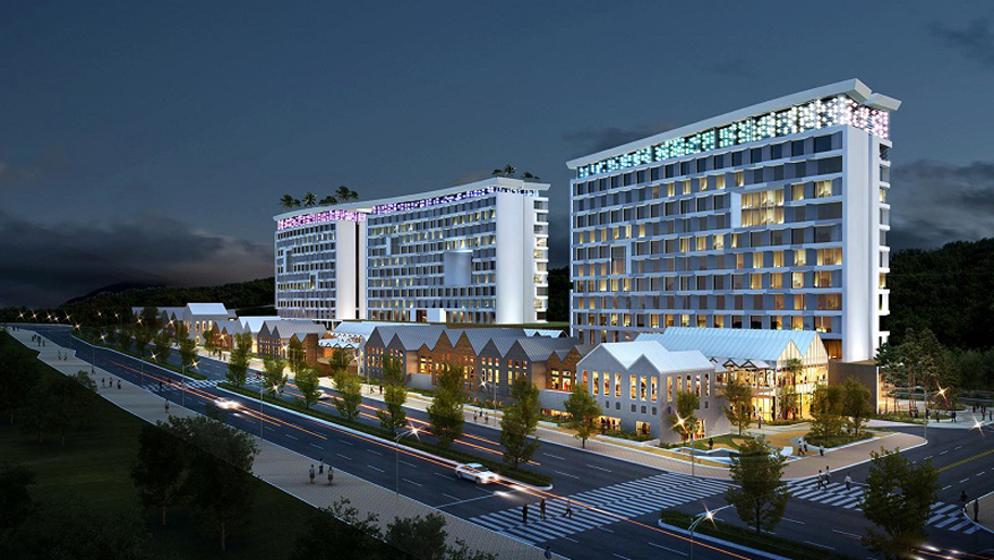 AVANI Busan exterior at night rendering low res