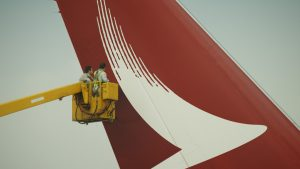 Cathay Dragon tailfin brushwing logo