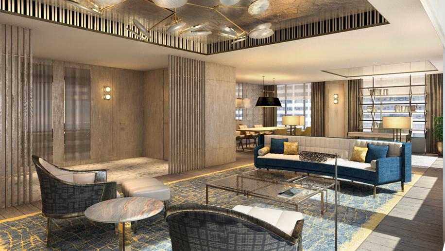 The Apartment Suite living room, The Landmark Mandarin Oriental, Hong Kong
