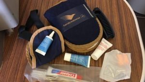 Garuda Indonesia Clarins amenity kit business class