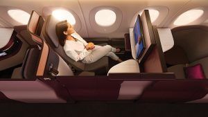 Qatar Airways business class seat