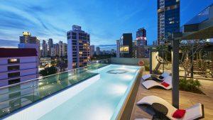 Oakwood Studios Singapore - Swim (night)