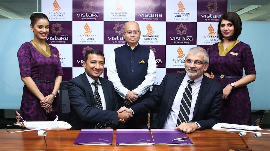 Vistara-SIA codeshare signing