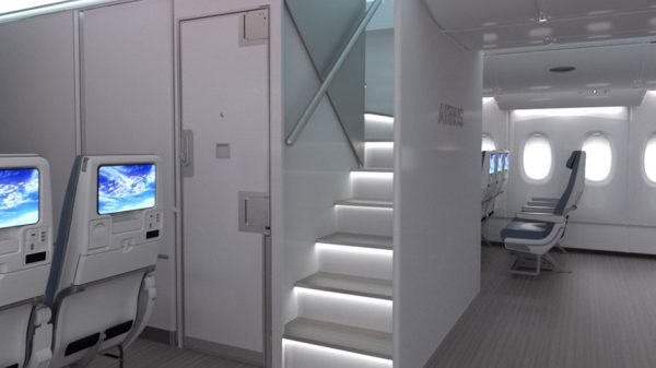 New design for the A380 front staircase