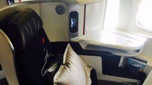 Air France B777-300ER business class seat