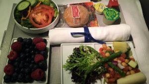 Air France business class vegetarian meal
