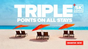 Club Carlson triple points offer