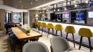 Plaza Premium arrivals lounge at Heathrow T4
