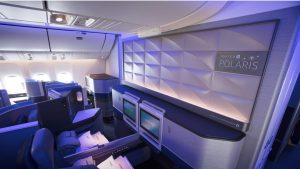 United B777-300ER Polaris Business cabin