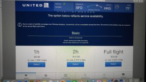 United B777-300ER Polaris Business wifi