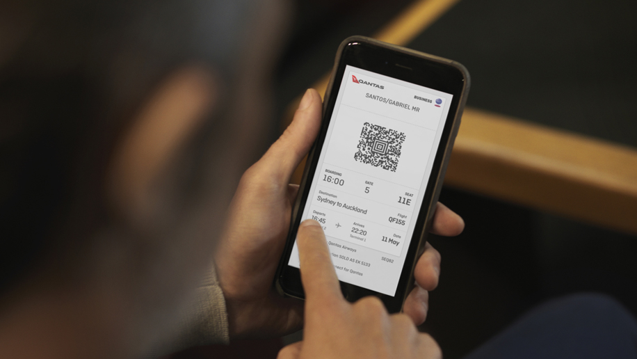 Qantas digital boarding pass