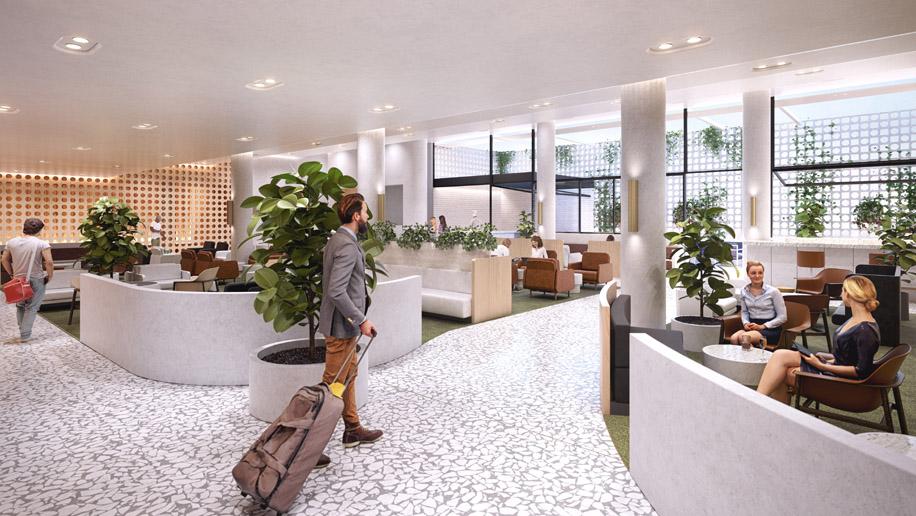 Qantas International Transit Lounge - Perth Airport
