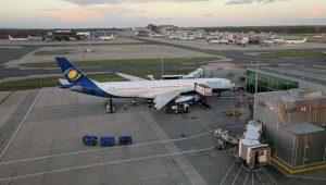 Rwandair-A330-parked-LGW