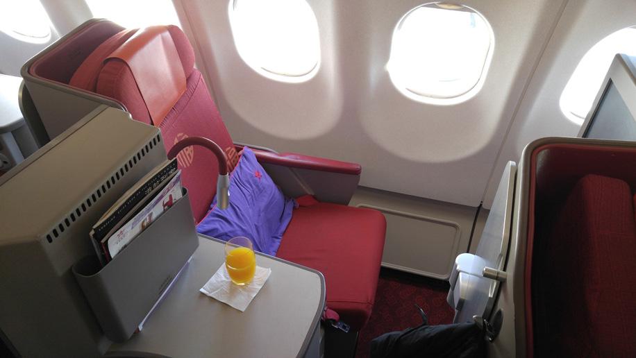 Flight Review Hong Kong Airlines A330 300 Business Class