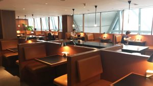 Cathay Pacific first and business class lounge Bangkok Suvarnabhumi Airport