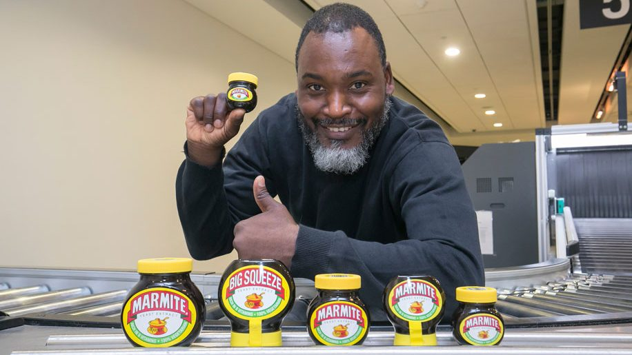 Marmite swap at London City airport