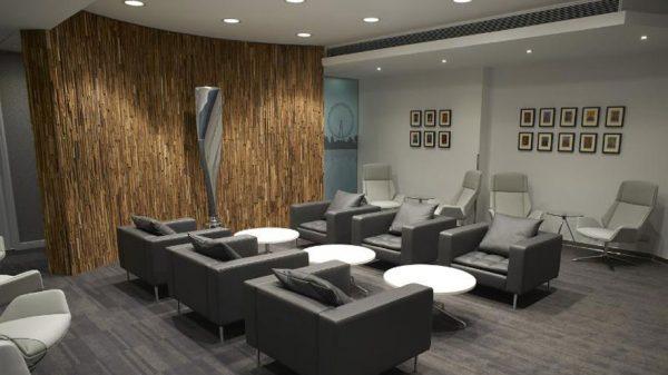 Plaza Premium arrivals lounge at Heathrow T3