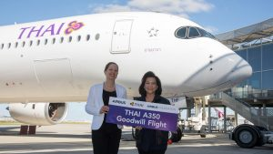 Thai Airways' fifth A350: Credit - Master Films/A Tchaikovski