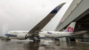 China Airlines' Urocissa caerulea liveried A350