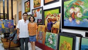 Artists Luu thanh Qua and Tran thi Bao Tran