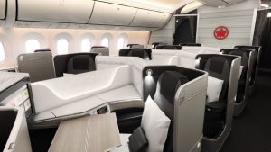 Air Canada B787 Dreamliner business class