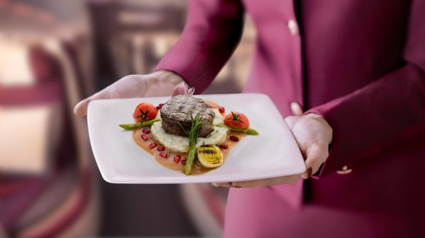 Qatar Airways pre-select dining option
