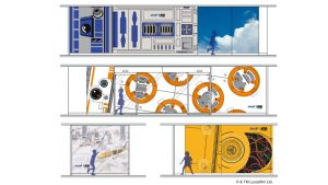 ANA Lounge Haneda Airport T2 Star Wars kids' area (© & TM Lucasfilm Ltd.)