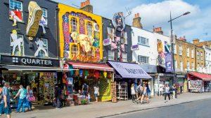Camden Town shops, London
