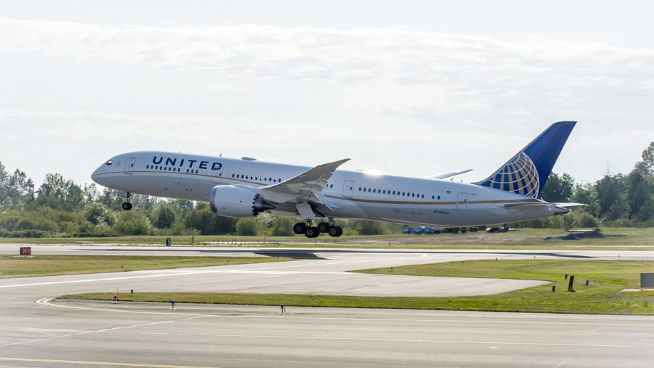 United Boeing 787-9 Dreamliner