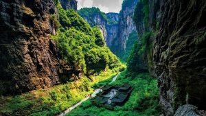 Chongqing Wulong ancient Inn natural bridge Scenic Area