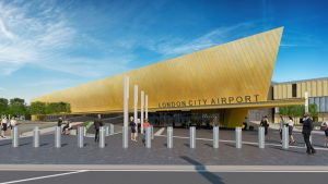 CGI image of the redeveloped London City Airport
