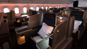 Qantas B787-9 Dreamliner business class