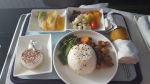 China Eastern A330 business class meal