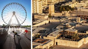 Eye of the Emirates Wheel and the heart of Sharjah