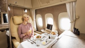 Emirates First-Class-dining