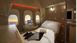Emirates B777-300ER First-Class-fully-flat-bed