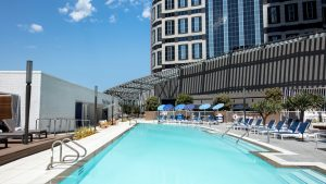 Swimming pool at the Intercontinental Los Angeles Downtown
