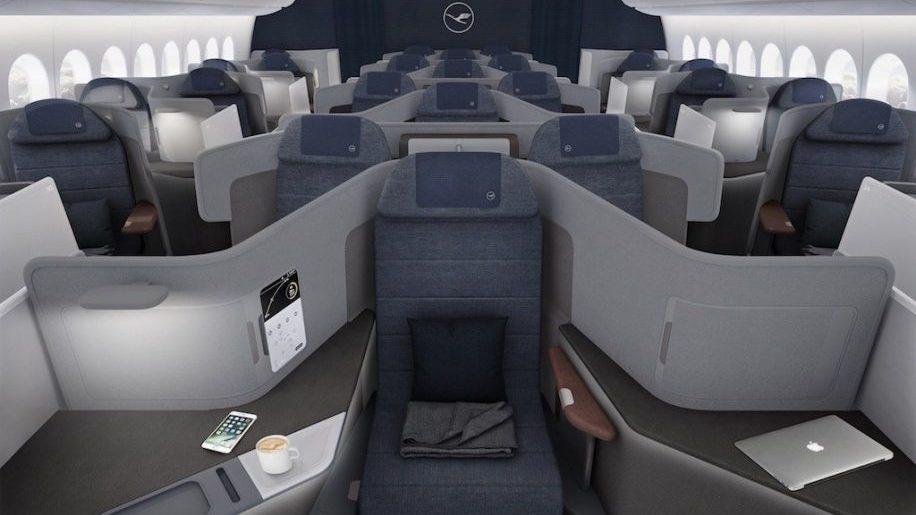 Lufthansa's new B777X business class seats