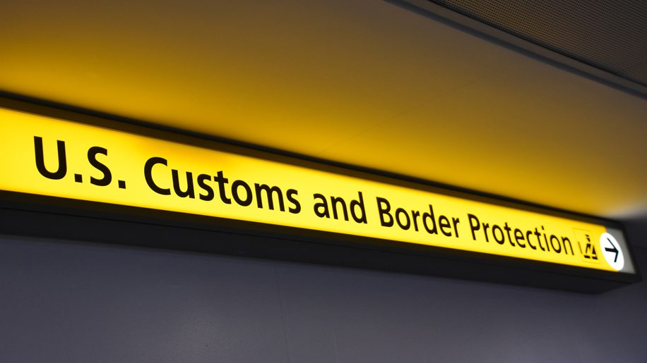 US Customs sign (iStock)