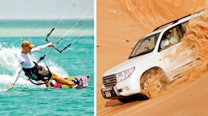 Water sports at Al Dhafra and Dune bashing